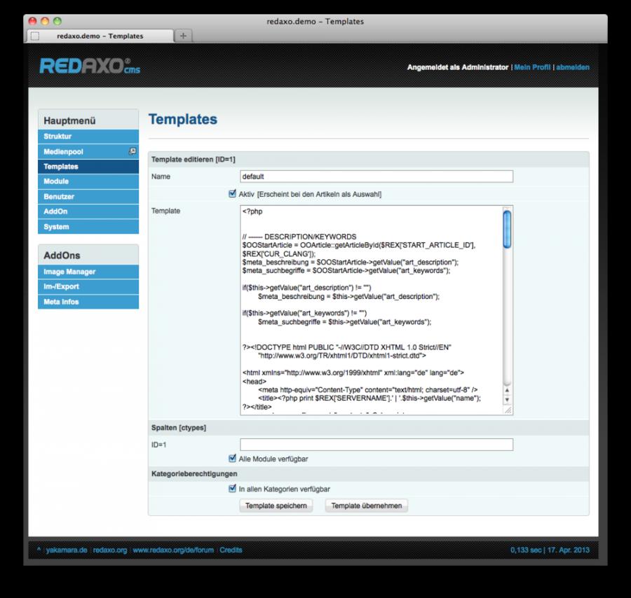 Seiten-Templates - Templates - Redaxo-Basics - Redaxo Crashkurs ...
